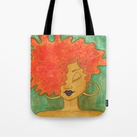 lydia martin Tote Bags featuring Lydia by ChanelChristoffDavis