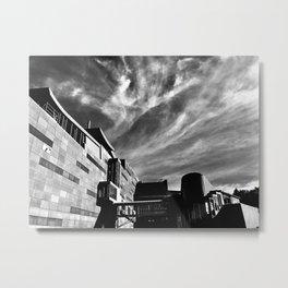 Clouds Over Te Papa Metal Print