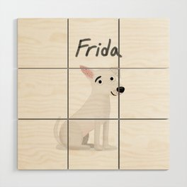 "Cute Custom Dog Art ""Frida"" Wood Wall Art"