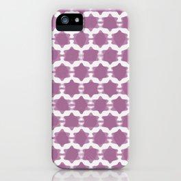Hexagram Pattern: Purple iPhone Case