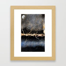 A thorny night Framed Art Print