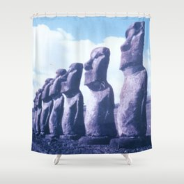 Easter Island Statues Shower Curtain