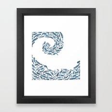 Whale Wave.  Framed Art Print