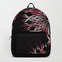 Mandala silver and red Backpack