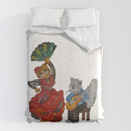 Cats and Flamenco Comforters