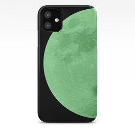 LIME MOON // BLACK SKY iPhone Case