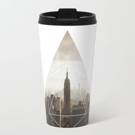 Empire State Building - Geometric Photography Travel Mug