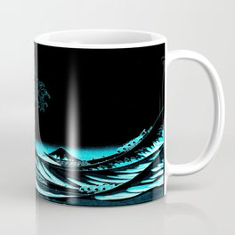 The Great Wave : Dark Teal Coffee Mug