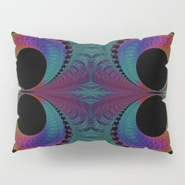 Peacock Feathers Eyes Fractal Abstract Pillow Sham
