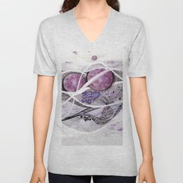 Space Planet Star Abstract #2 Unisex V-Neck