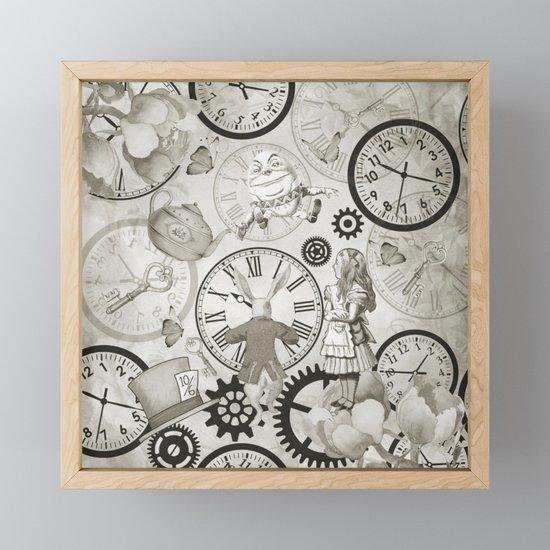 Wonderland Time - Vintage Black & White by nomadartstudio