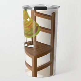 I Am The Pear Who Stands On This Chair Travel Mug