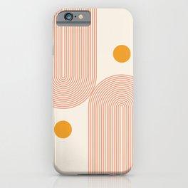 Abstraction_SUN_DOUBLE_LINE_POP_ART_Minimalism_001C iPhone Case