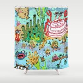 Mini Mermaids and Friends Shower Curtain