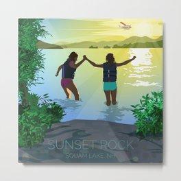 Sunset Rock on Squam Lake Metal Print