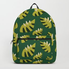 Pretty Clawed Green Leaf Pattern Backpack