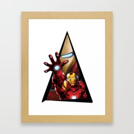 Youtriangle ∆ IronMan Framed Art Print
