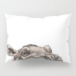 Peeking Baby Hippo Pillow Sham