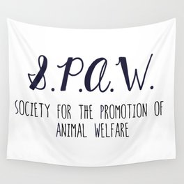 SPAW - Society for the Promotion of Animal Welfare Wall Tapestry