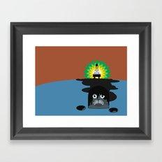 BP Oil Attack Framed Art Print