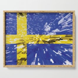 Extruded Flag of Sweden Serving Tray