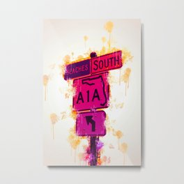 A1A South Florida Metal Print