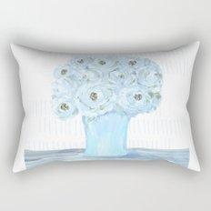 Boho still life flowers in vase Rectangular Pillow