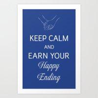 Earn Your Happy Ending Art Print