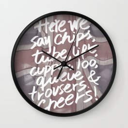 Here we say Wall Clock