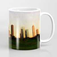 houston Mugs featuring Houston Skyline by Tracy Carlson Photography