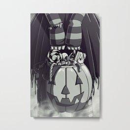 Pumpkin Loot Metal Print