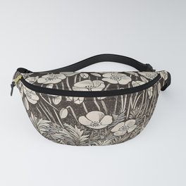 White Poppies Fanny Pack