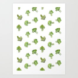 Broccoli – Scattered - Open Art Print