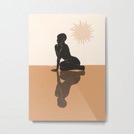 Minimal Abstract Art Nude Woman 3 Metal Print