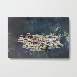 waterlilies pond Metal Print