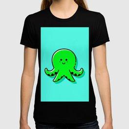Kids Nursery Decor Cute Green Octopus T-shirt