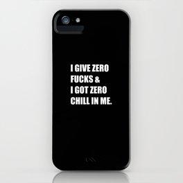 """Ariana """"Zero Effs"""" Grande 2 iPhone Case"""