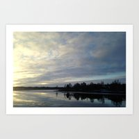 Sunset at Oulu II Art Print