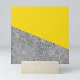 Geometry 101 Vivid Yellow Mini Art Print