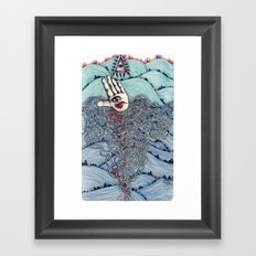 I see all the mountains Framed Art Print