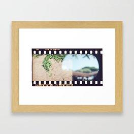 Film End Framed Art Print