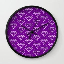 DIAMOND ((violet)) Wall Clock