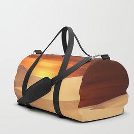 The Sunset On Desert Duffle Bag