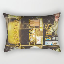 Gastronomie Italienne, Vins Rectangular Pillow