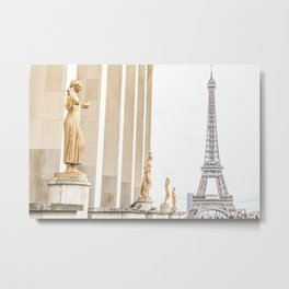 Golden tones in the air - The Eiffel Tower Metal Print