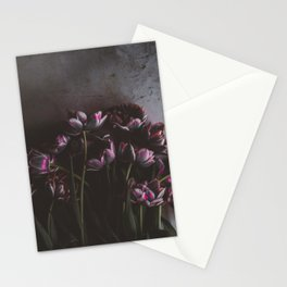 Dark Purple Floral (Color) Stationery Cards
