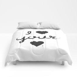 i heart your heart Comforters