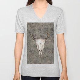 South-West Rustic Ranch Skull Unisex V-Neck