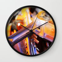 tool Wall Clocks featuring Tool Box by AlyssasMangos