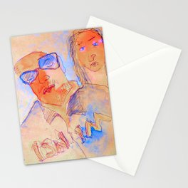 man and woman in the bar Stationery Cards